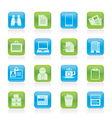 Business and office elements icons vector