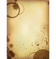 Coffee stained paper vector
