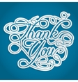 Thank you words with swirls vector
