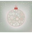 Beautiful christmas ball card eps 8 vector