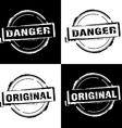 Danger original free rubber stamp vector
