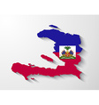 Haiti country map with shadow effect vector