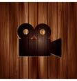 Video camera web icon cinema symbol vector