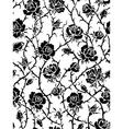 Black roses seamless pattern vector
