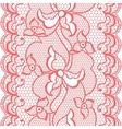 Lace fabric seamless border with abstract flowers vector