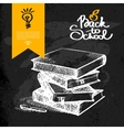 Hand drawn back to school background vector