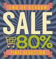 80 percent end of season sale vector