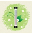 Thermometer by seasons spring vector
