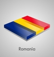 European flags set - romania vector