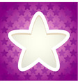 Star paper cut frame vector