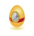 Egg with a sticker euro vector