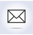 Envelope icon gray colors vector