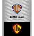 Abstract building symbol logo shield icon vector