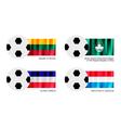 Soccer ball of lithuania macao los altos vector