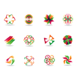 Abstract colorful icons vector