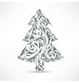 Christmas tree floral motif design element vector