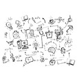 Set of sketch elements vector
