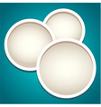Modern round frames in paper cut style vector