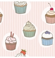 Stripes cupckes pattern vector
