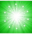 Green abstract explosion vector