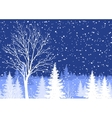 Winter christmas landscape with tree vector