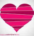 Love heart valentines day card in format vector