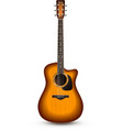 Guitar realistic isolated vector
