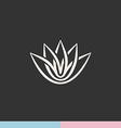Lotus flower silhouette logo vector