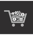 Business a cart vector