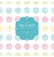 Abstract textile polka dots stripes frame seamless vector