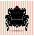 Silhouette of armchair vector