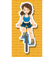 Riding bike vector