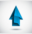 3d cyan up arrow with light background vector