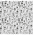 Robots - seamless background vector