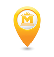 Museum icon yellow pointer vector
