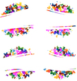 Multicolored silhouettes of butterflies vector