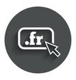 Domain fr sign icon top-level internet domain vector