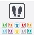 Imprint shoes sign icon shoe print symbol vector