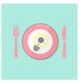 Creative light bulb idea and brain concept backgro vector