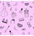 Fashion seamless pattern dress ear rings ring vector