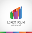 Real estate abstract logo template colorful vector
