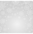 Gray abstract background with snowflake vector