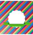 Striped background with blank label vector