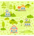 Houses seamless vector