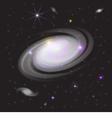 Galaxy in space vector