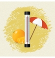 Thermometer by seasons summer vector