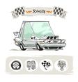 Cartoon sport car set vector