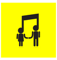 Creative music note sign icon and people sign vector