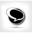 Speech bubble web icon vector