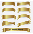 Gold ribbon banners eps10 vector